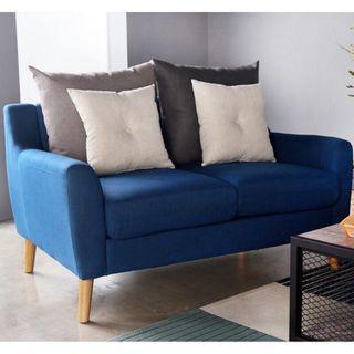 二手|【H&D】北歐風藍色雙人布沙發(二人沙發)