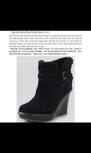 1.2折【專櫃正品】韓國進口 T2R 黑色麂皮 深灰漸層兔毛 質感內裡 隱形增高靴 前高後高 原價 4780