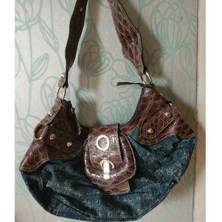 Authentic Guess Denim Bag
