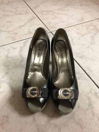🚚 La new高跟厚底鞋 24.5