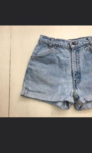 Levi's High Waisted Denim Mom Shorts