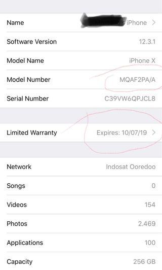 Iphone x 256gb ibox masih garansi mulus mampus
