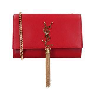 YSL Clutch woc red bag 紅 金