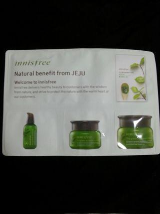 Brand New Innisfree Green Tea story welcome pack with Mask!