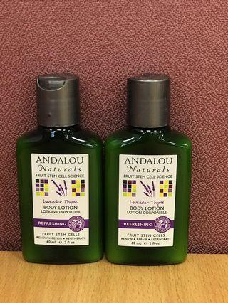 ANDALOU NATURALS BODY LOTION 60ml (2支)