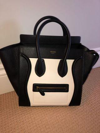Faux Celine Bag- Black and White