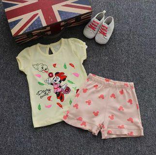 [Free Shipping] Premium Branded Disney Baby Baby Kids Girl Summer Set (2T)