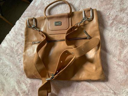 Leather laptop bag (made in Italy )