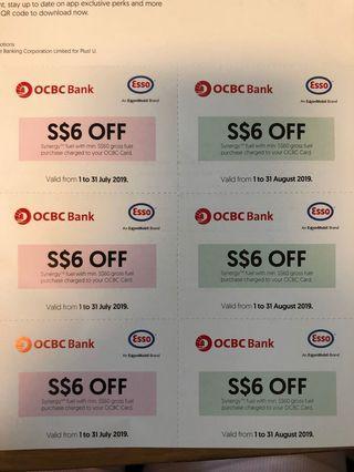 🚚 Esso petrol vouchers 6x$6