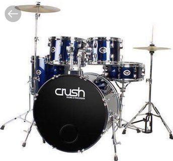 🚚 Crush Alpha Drum set with CRX Prime Cymbals set