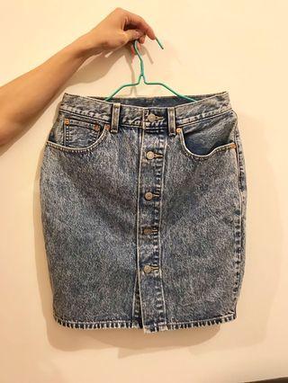 Levis Denim Skirt 牛仔裙 27 waist
