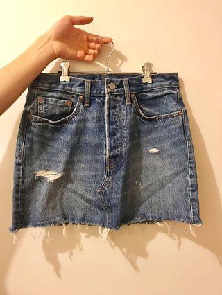 牛仔短裙 levis denim skirts