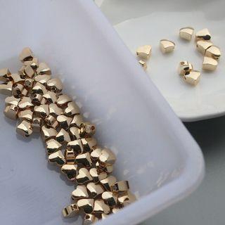 14k heart beads (x10) 6mm