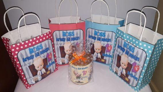Customised Boss Baby Theme goodie bag