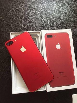 🚚 Iphone7 pIus 128g限量紅