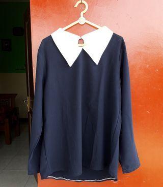 Blouse/Baju Atasan Navy