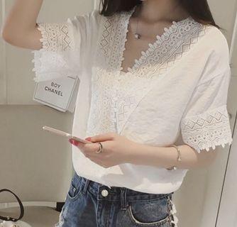 🌟<PO>🌟 White Lace Top