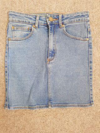 A BRAND denim skirt size 6