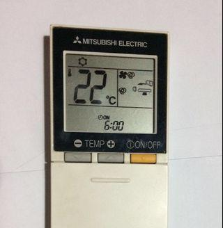 Mitsubishi air conditioner remote control for 2hp only