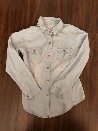 🚚 淺藍牛仔襯衫外套