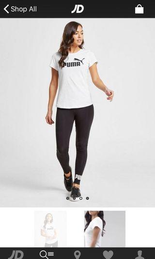 Puma Couple Shirt ( Black + White )