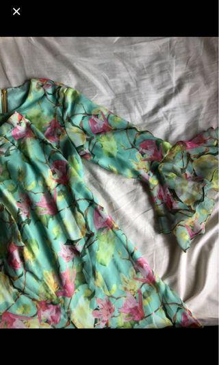 Baju Kurung Moden Floral