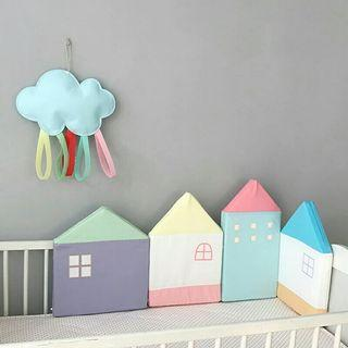 House Baby Cot Crib Bed Bumper