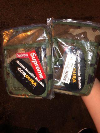 Supreme camo pouch bag