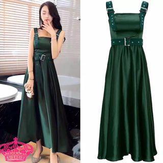 Emerald belt function / party dress