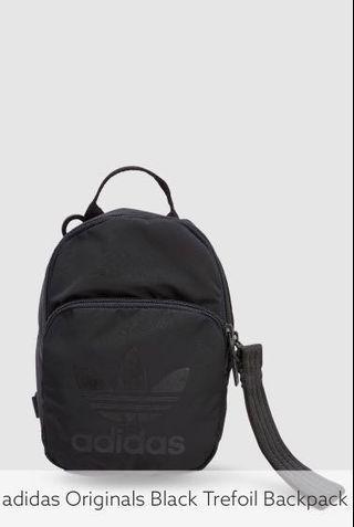 Adidas Originals Black Trefoil mini backpack