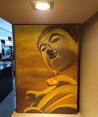 🚚 Buddha wall art - 100% handpainted acrylic painting