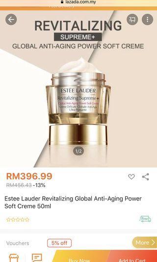 Estée Lauder revitalizing supreme anti aging face & eye cream, cleanser