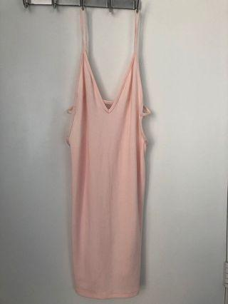 American Apparel Pink Bodycon Dress Size Small