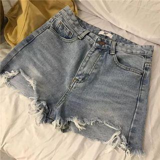 NEW Ripped Denim Shorts