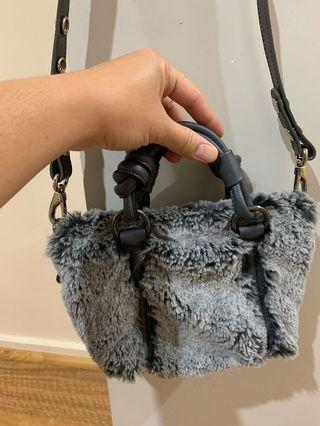 Mimco Fur Hip Bag