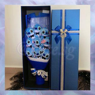 Stitch Cartoon Character Bouquet with Gift Box