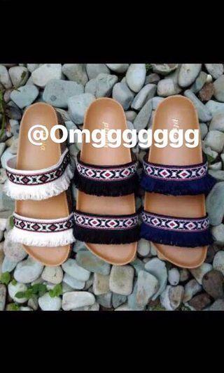 Vintage sandal wanita etnik
