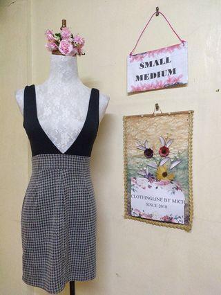 Jumper checkered dress