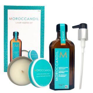 🚚 正貨❤️Moroccan Oil摩洛哥優油125ml+香氛蠟燭40g禮盒組