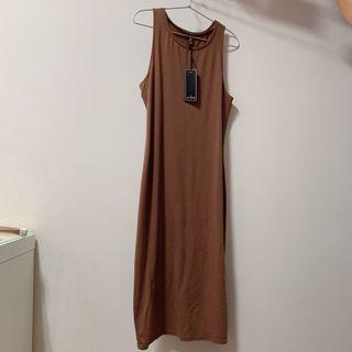 long brown dress