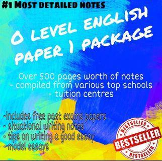 🚚 O level paper 1 English