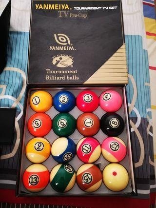 Yanmeiya Pool Balls tournament tv set