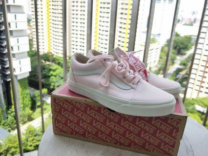 """🚚 Vans Old Skool Vansbuck Leather """"Heavenly Pink"""" (Pink)"""
