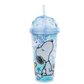 SNOOPY有你陪我喝水杯(藍色、附吸管) 雙北可面交