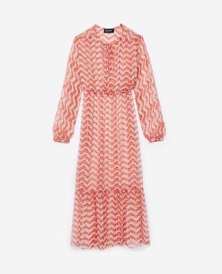 Kooples Red Jasmine Silk Dress - in excellent condition
