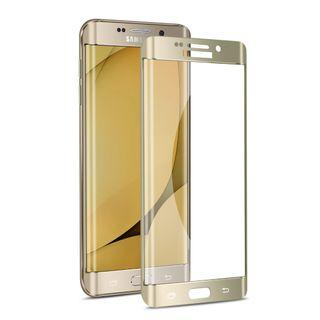 SAMSUNG S6 EDGE+ CURVED CLEAR GLASS & GOLD SCREEN PROTECTOR