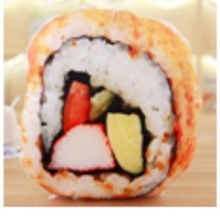 創意仿真3D食品兩用抱枕被子