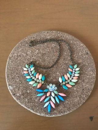 Feather gems necklace   ALL for 45rb