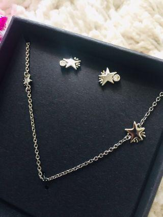 Coach Necklace and Earrings Set