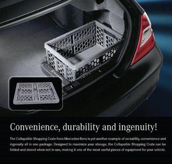 Mercedes Benz Shopping crates - collapsible